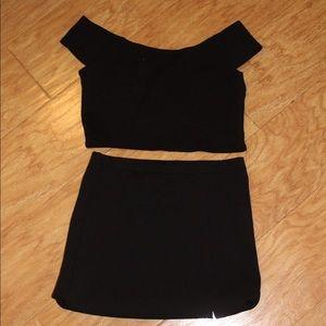 Purrr Melrose Two piece black set Fits S/M